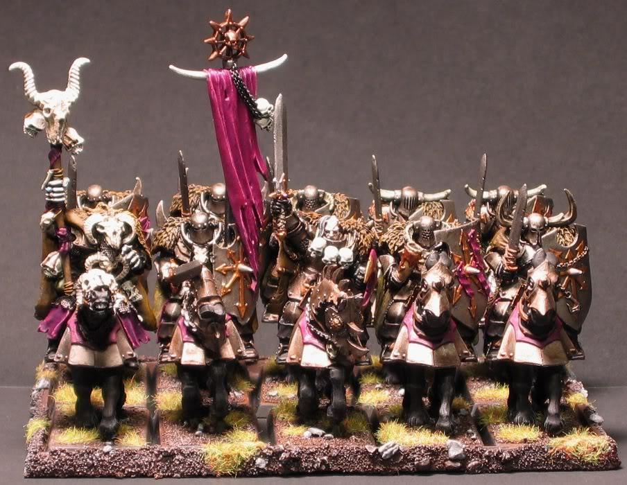 Slaanesh army - select models.  WHFB ChaosChosenKnightsandMage