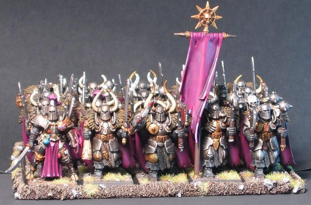 Slaanesh army - select models.  WHFB ChaosChosenWarriors