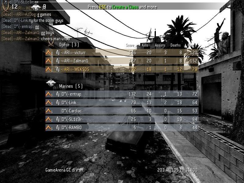 1st match in the CG ladder Screenshot