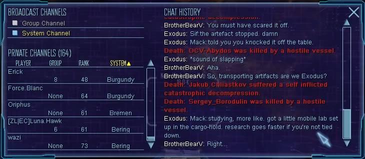 Exodus logs. File2
