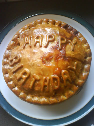 Taboo gains another year. Birfdaypie