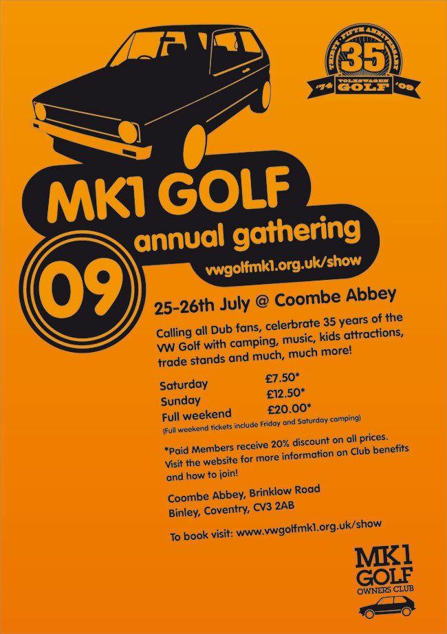 Invitation to the mk1 golf annual gathering THREAD-FLYER