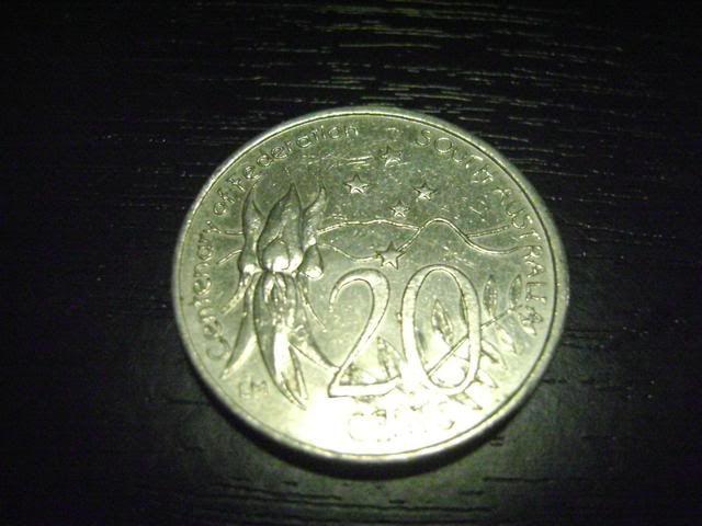 Our Australian 20c coins we have 2001j