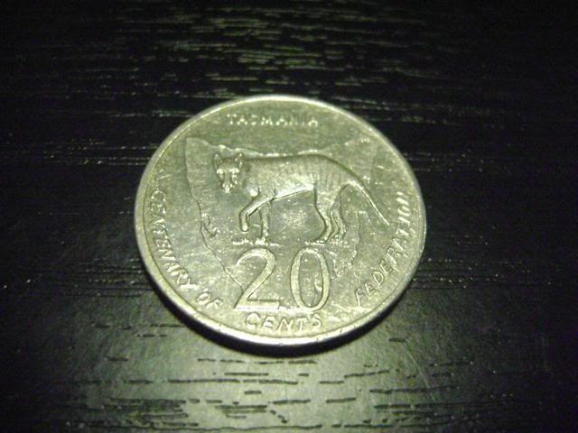 Our Australian 20c coins we have 2001k