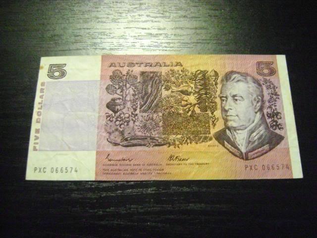1985 Australian $5 note 1985