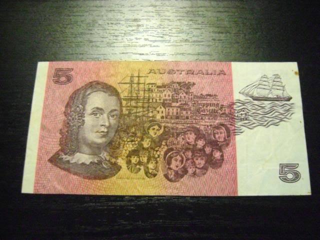 1985 Australian $5 note 1985b
