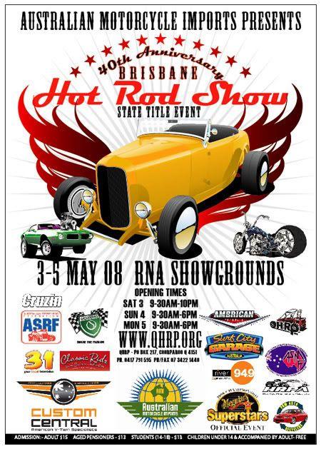 40th Anniversary 2008 Brisbane Hot Rod Show Hrposter08