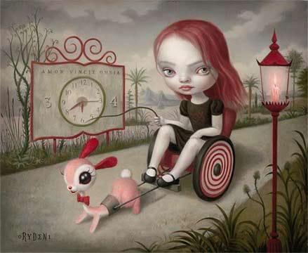 Le lapin dans l'art GirlpulledByRabbit