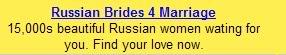 Ads on the interwebz Russianbrides