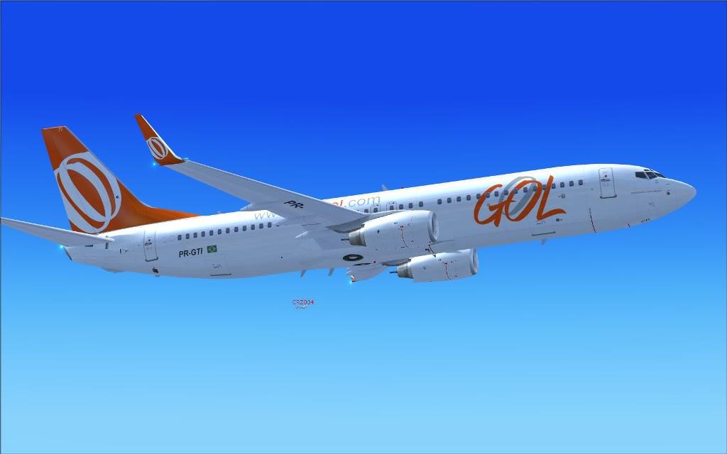 [FS2004] PR-GTI (737-800 GOL) em Continente Africano... A008