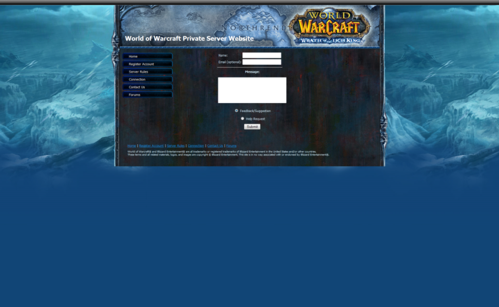 Site WOTLK Contact