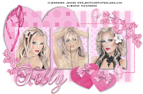♥ THE ALLURING AND EXQUISITE ARTWORK OF BARBARA JENSEN ♥ Bj20pinkbeauty20tilly