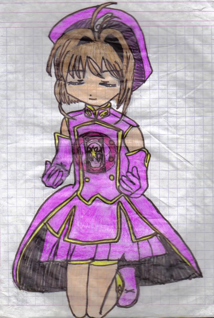 Mis dibujos chafitos xDD jaja CardCaptorsSakura-sakura