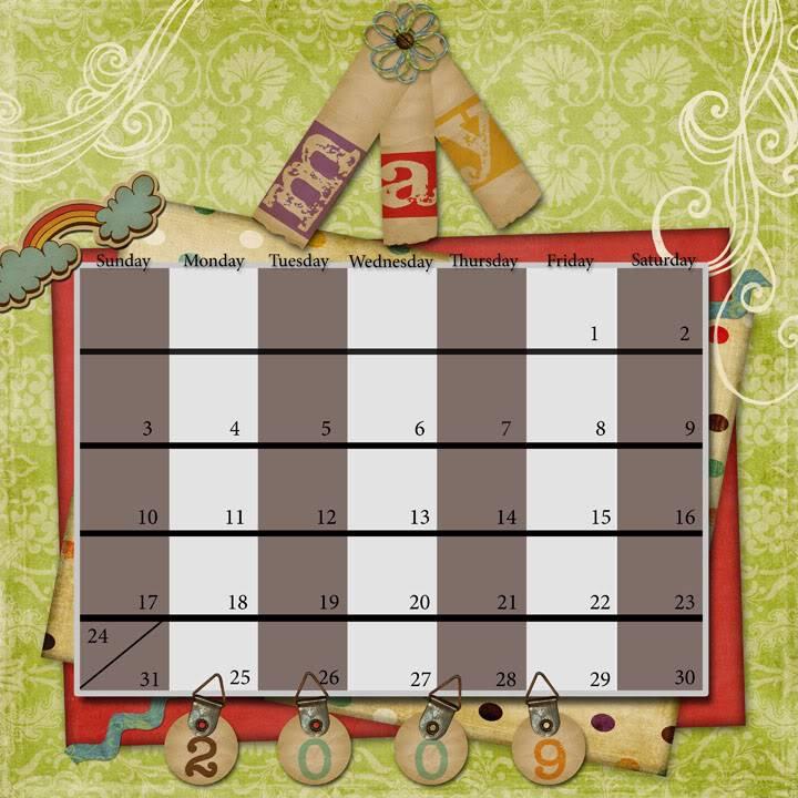 MAY Calendar Challenge May2009