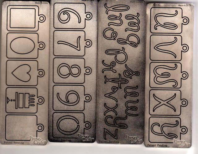 Cuttlebug tag alphabet Tagalphabet