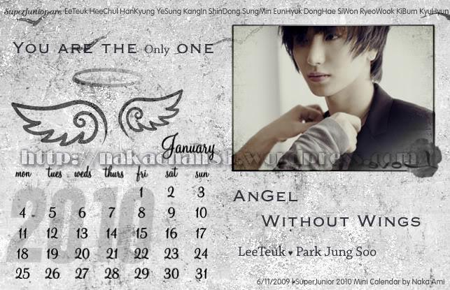 Calendar of Suju SJ-Jan-1
