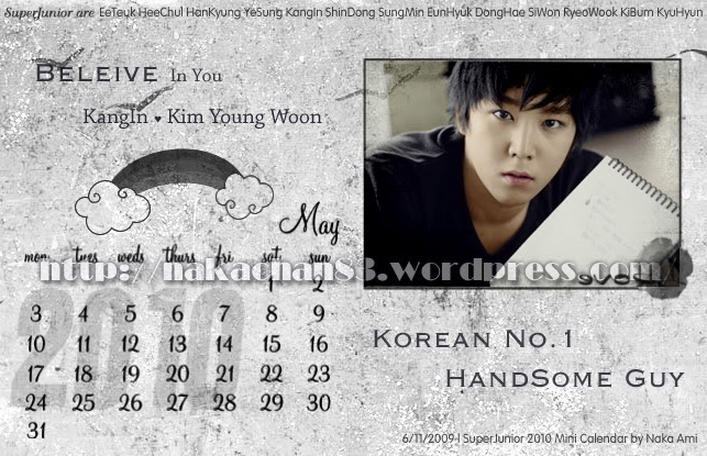 Calendar of Suju SJ-May-1