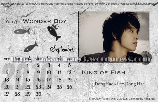 Calendar of Suju SJ-Sep