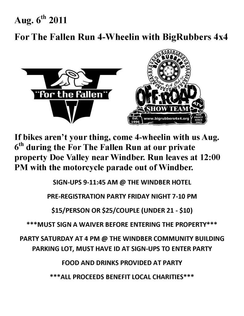For the Fallen Ride FTFBRFLYER1
