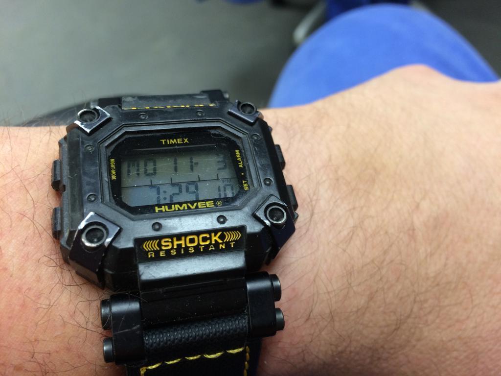 90's Timex Humvee....Life with a 75 cent watch. F3E7908F-E011-4282-B803-4A10B242D9BA_zpsfigqj9uc