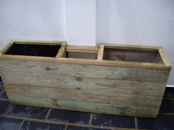Jardineras de madera. IMGP1183