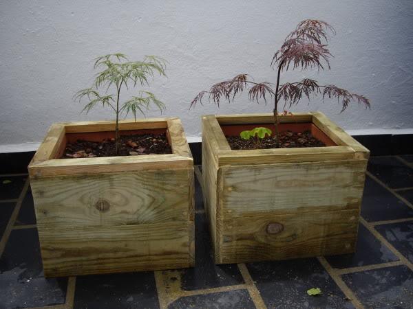 Jardineras de madera. IMGP1185