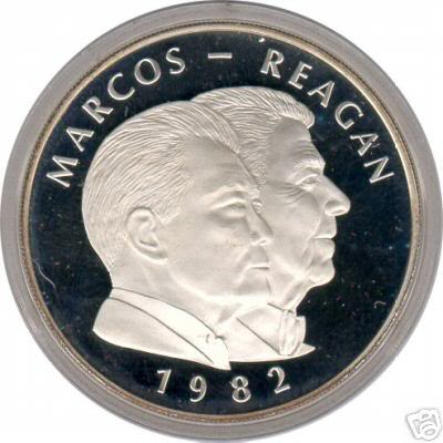 1982  25Piso PROOF graded by ANACS ReaganproofO