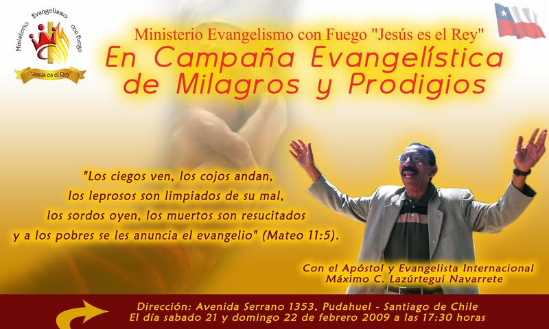 Campaña evangelística de milagros y prodigios en Stg. Chile Afiche_evangelistico