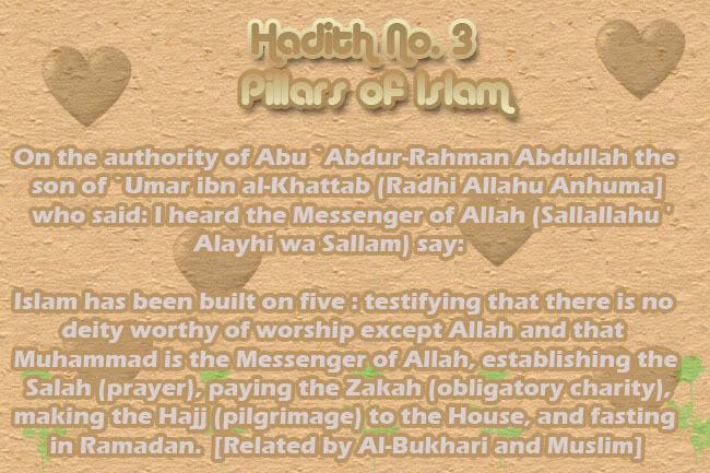 The Forty Nawawi Hadith Had03