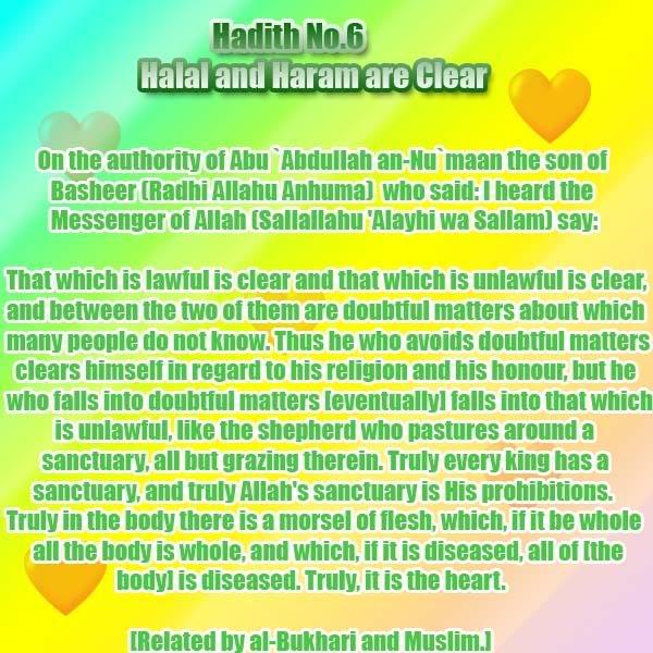 The Forty Nawawi Hadith Had06