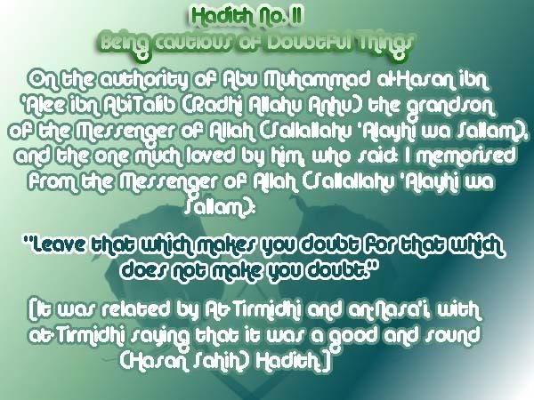 The Forty Nawawi Hadith Had11