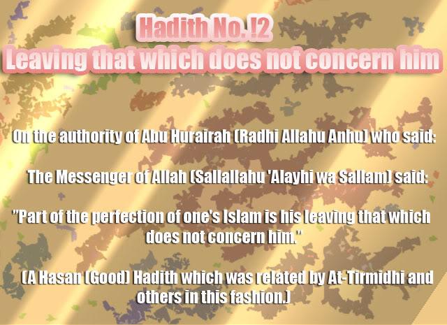 The Forty Nawawi Hadith Had12