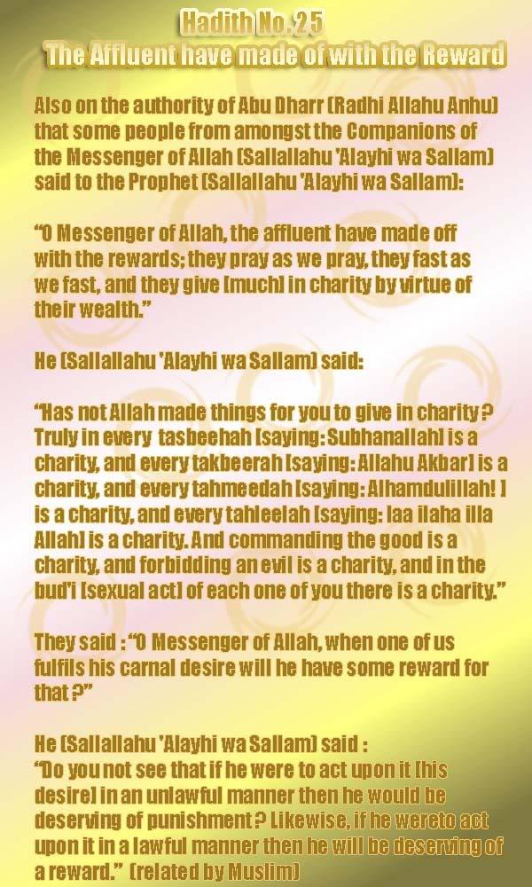 The Forty Nawawi Hadith - Page 2 Had25