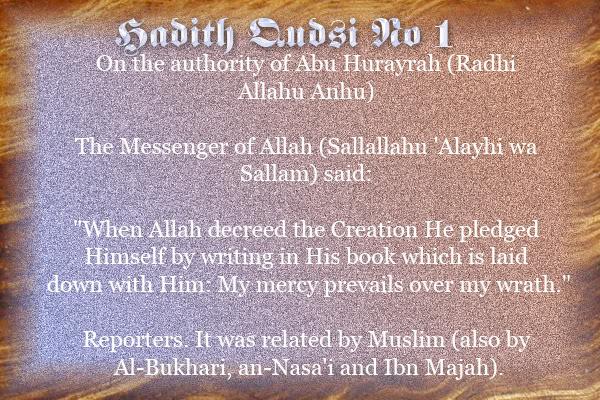 The Forty Qudsi Hadith Qud01