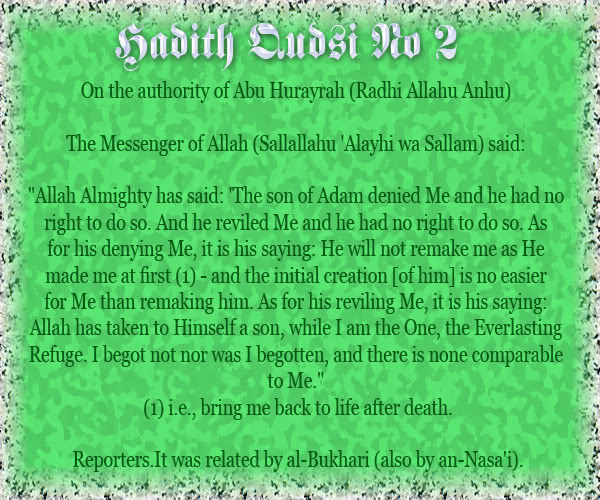 The Forty Qudsi Hadith Qud02