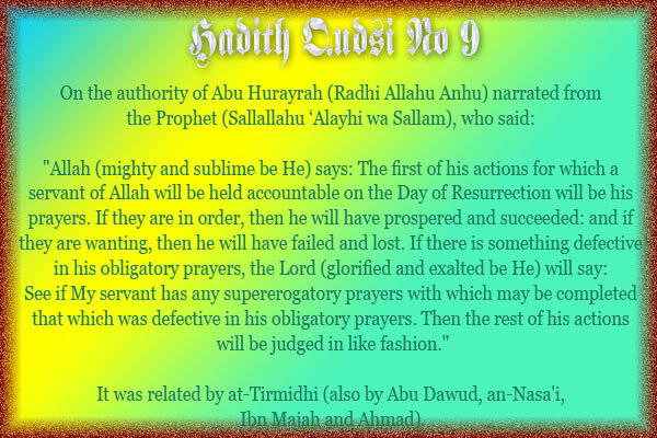 The Forty Qudsi Hadith Qud09