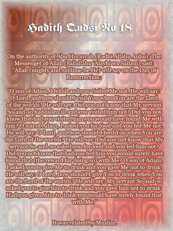 The Forty Qudsi Hadith Qud18