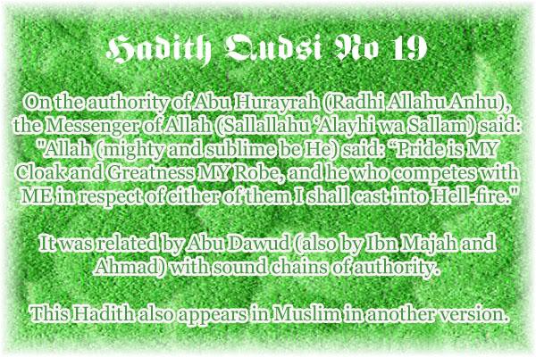 The Forty Qudsi Hadith Qud19