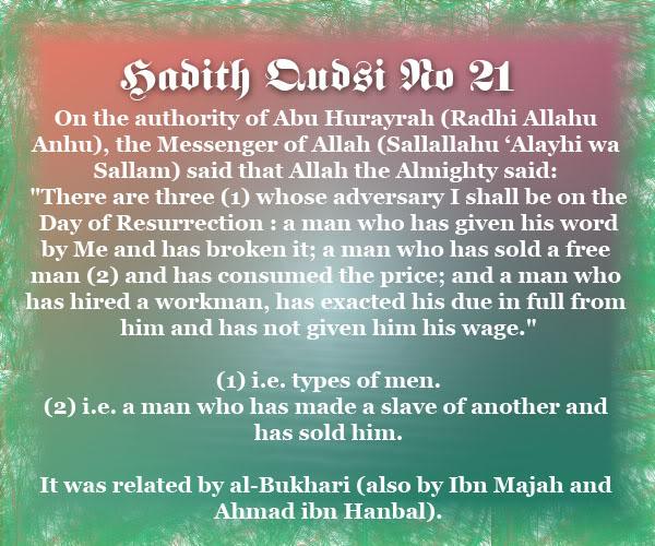 The Forty Qudsi Hadith Qud21