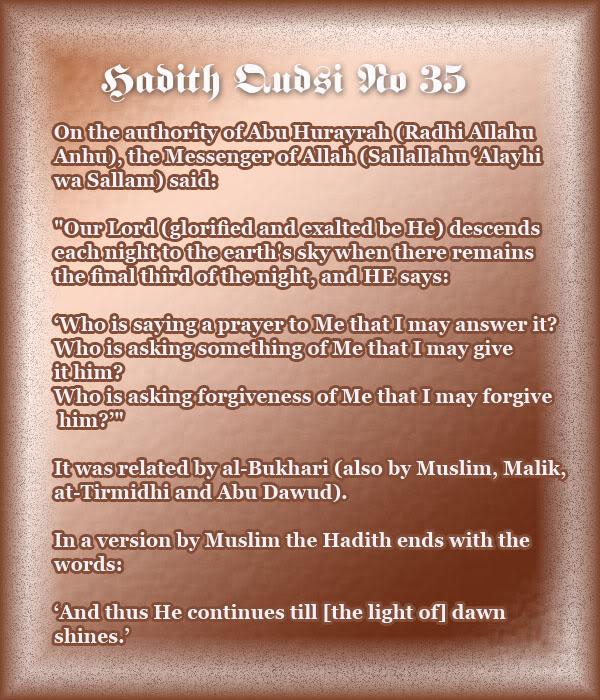 The Forty Qudsi Hadith - Page 2 Qud35