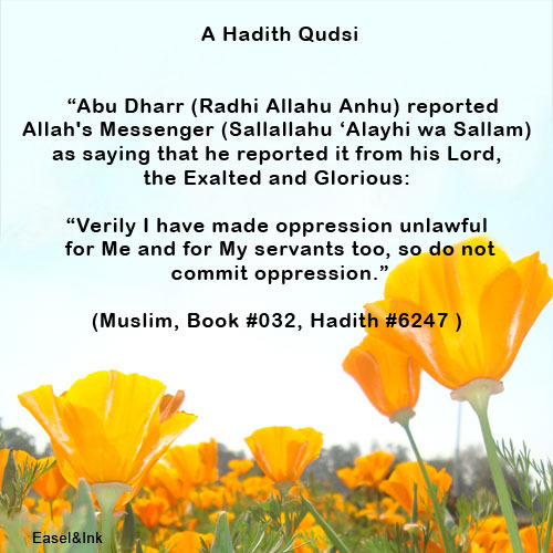 Hadith Graphics - Page 4 Qudsi-oppression