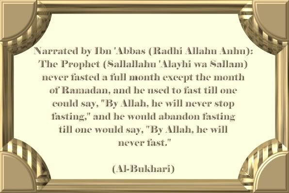 Ahadith on Ramadan and Fasting Neverfasted