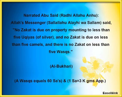 Fiqh of Zakat Nisab