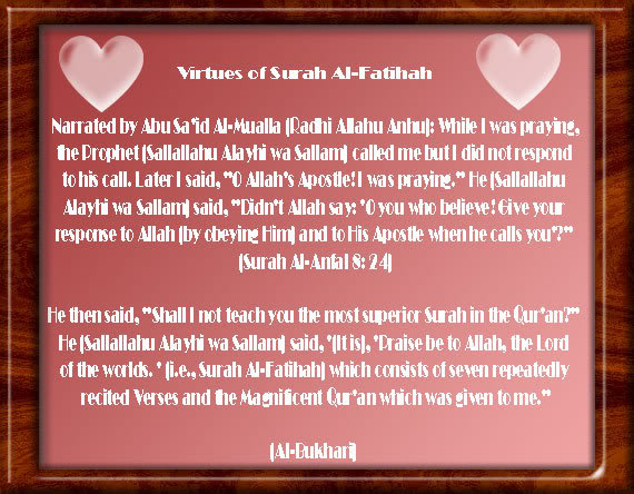 Hadith on Virtues of Surah and Ayah Virtues01