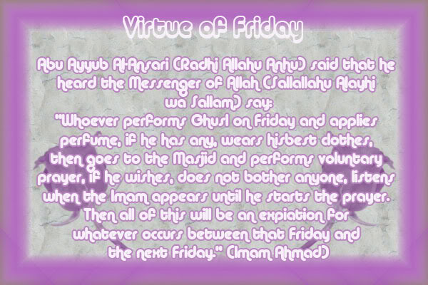 Hadith on Yaum al-Jumu'ah Friday1