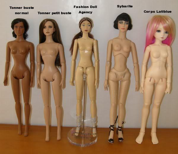 Comparaisons corps fashion dolls: images & liens Comparaison40cm04