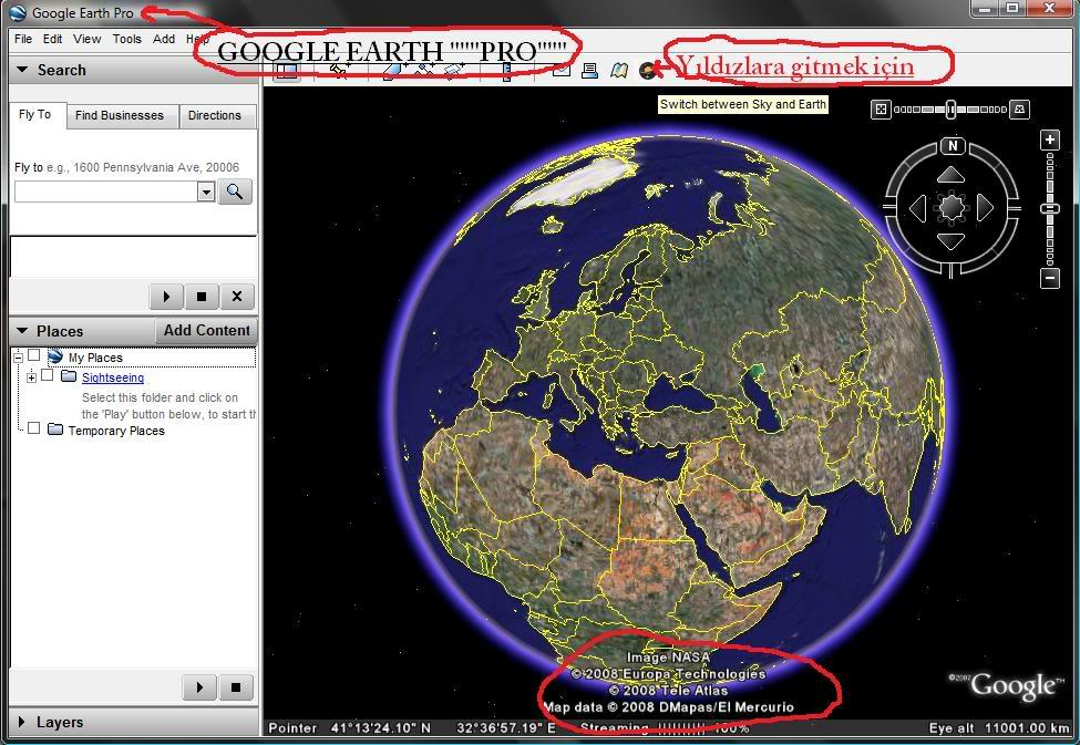 Google Earth Pro 4.2 قوقل ايرث 4 برنامج + الكراك 23