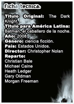 Batman The Dark Knight Fichabat