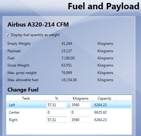 Airbus Bundle - carregamento do combustível 06-A320