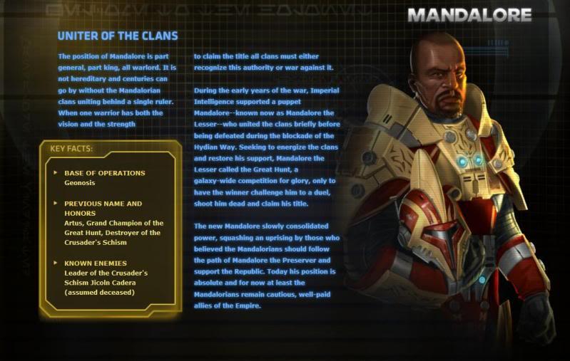 Mandalorians and SW:TOR TORmandalore